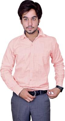Men's Solid Casual Yellow Shirt