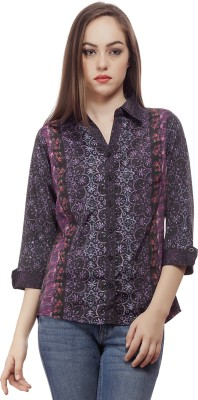 Mask Lifestyle Women's Printed Casual Multicolor Shirt