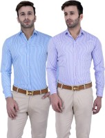 Lee Formal Shirts (Men's) - Lee//Marc Men's Checkered Formal Multicolor Shirt(Pack of 2)