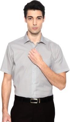 Van Heusen Men's Checkered Casual Grey Shirt
