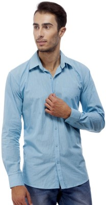 Trendy Bandey Men's Solid Casual Light Blue Shirt