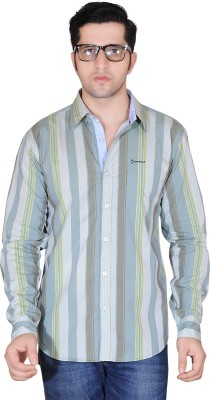 Denimize Men's Striped Casual Multicolor Shirt