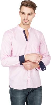 Slub By INMARK Men's Solid Casual Pink Shirt