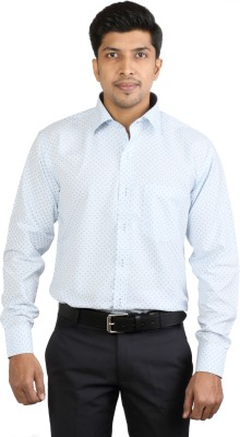 Basil Men's Printed Casual Light Blue Shirt