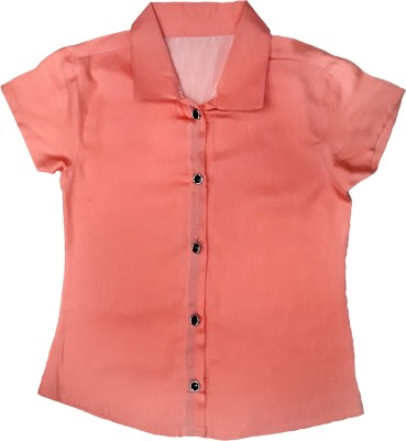 Desire Girl,s Solid Casual Pink Shirt