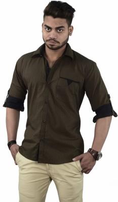 Your Desire Shirts Men's Checkered Casual Brown, Black Shirt