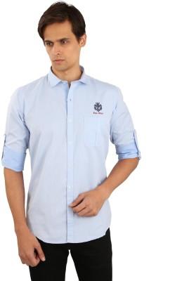Eden Elliot Men's Solid Casual Light Blue Shirt