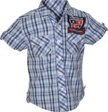 Cool Quotient Boys Checkered Casual Blue...