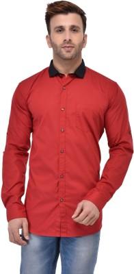 Azy Fabrics Mens Solid Casual Black, Blue Shirt