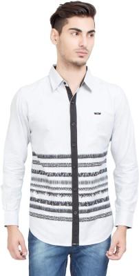 Riot Jeans Men's Printed Casual Black Shirt
