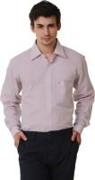 Kwardrobes Formal Shirts (Men's) - Kwardrobes Men's Solid Formal Linen Pink Shirt