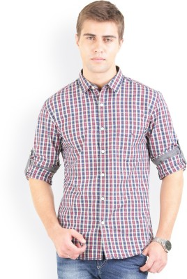 Bay Ridge Men's Checkered Casual Red Shirt