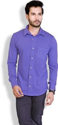 LUCfashion Men's Solid Casual Purple Shirt