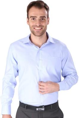 Magson Ace Men's Solid Formal Blue Shirt