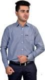Revine Men's Solid Formal Grey Shirt