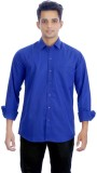 Black Bee Men's Solid Casual Blue Shirt