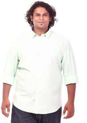 Ciroco Men's Solid Casual Green Shirt