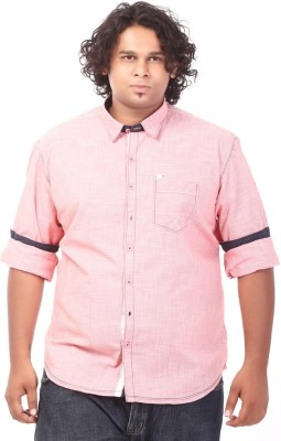 Ciroco Men's Solid Casual Red Shirt
