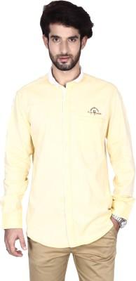 Brecken Paul Men's Solid Casual Yellow Shirt