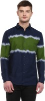 Dennison Men's Chevron Casual Dark Blue Shirt best price on Flipkart @ Rs. 799