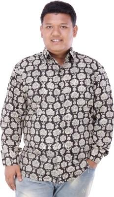 Damyantii Men's Printed Casual Black Shirt