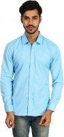 Ottoman Fashions Formal Shirts (Men's) - Ottoman Fashions Men's Solid Formal Blue Shirt