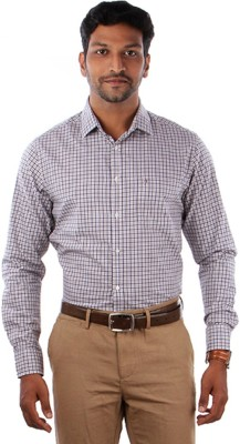 Indian Terrain Men's Checkered Formal Multicolor Shirt