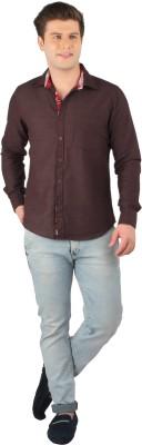 Zoro Auge Men's Solid Casual Brown Shirt