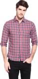 Hueman Men's Checkered Casual Red Shirt