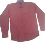 RC Men's Self Design Casual Red Shirt