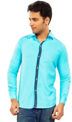 Trinath Men's Solid Casual Blue Shirt