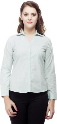ORIANNE Women's Woven Formal Blue Shirt