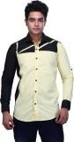 Trinath Men's Self Design Casual Yellow,...