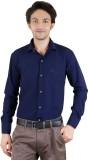 Zrestha Men's Solid Formal Blue Shirt