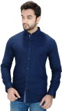 Equipoise Men's Solid Casual Dark Blue S...