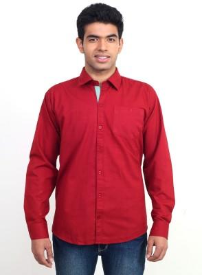 Solzo Men's Solid Casual Red Shirt at flipkart
