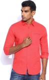 POE Men's Solid Casual Red Shirt