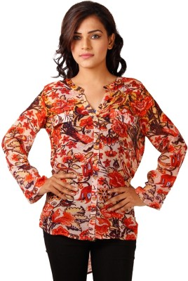 Toscee Women's Floral Print Casual Multicolor Shirt