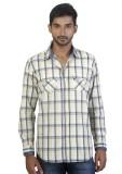 Repique Men's Checkered Casual Blue Shir...