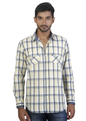 Repique Men's Checkered Casual Blue Shirt
