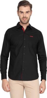 Vwear Men's Solid Casual Black Shirt