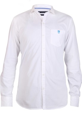 Hash Luxury Men,s Solid Casual White Shirt