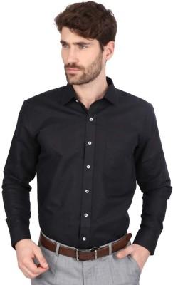Big Tree Men,s Solid Formal Linen Black Shirt