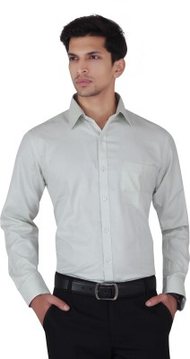 Cocablue Men's Solid Formal Green Shirt