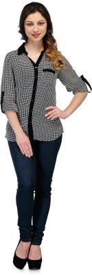 Rockland Life Women's Checkered Casual Black, White Shirt