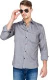 Slub by Inmark Men's Solid Casual Grey S...