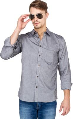 Slub By INMARK Men's Solid Casual Grey Shirt