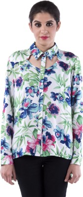 Aarr Women,s Floral Print Casual Multicolor Shirt