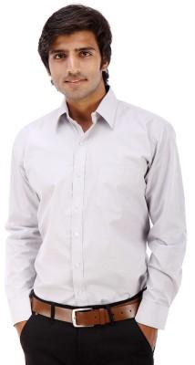 Elite Formals Men's Solid Formal Grey Shirt