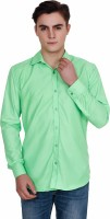 Fomti Formal Shirts (Men's) - Fomti Men's Solid Formal Green Shirt